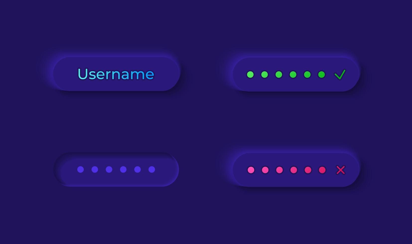 kit d'éléments d'interface utilisateur de connexion utilisateur vecteur