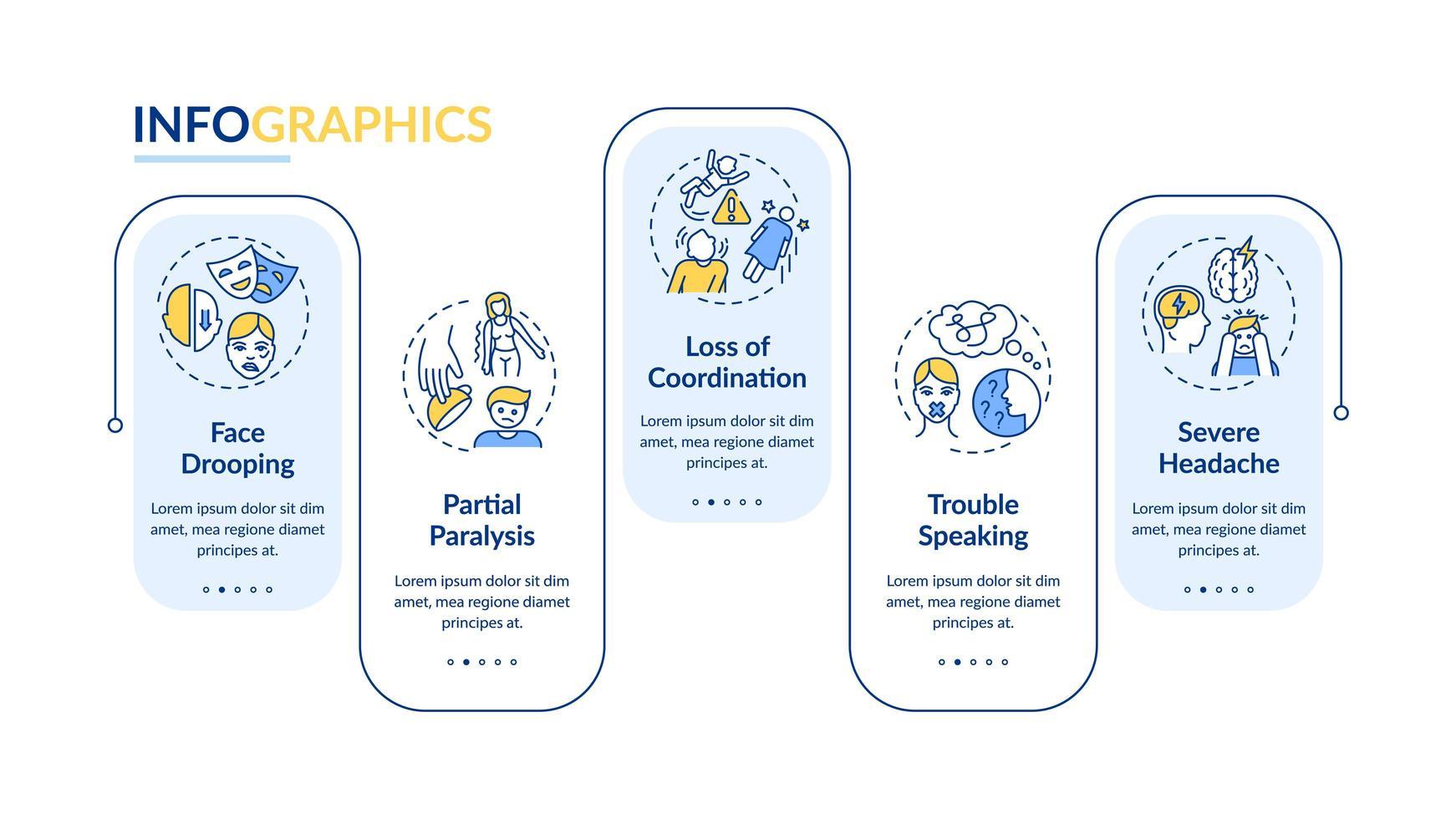 modèle infographique de vecteur de coup de cerveau