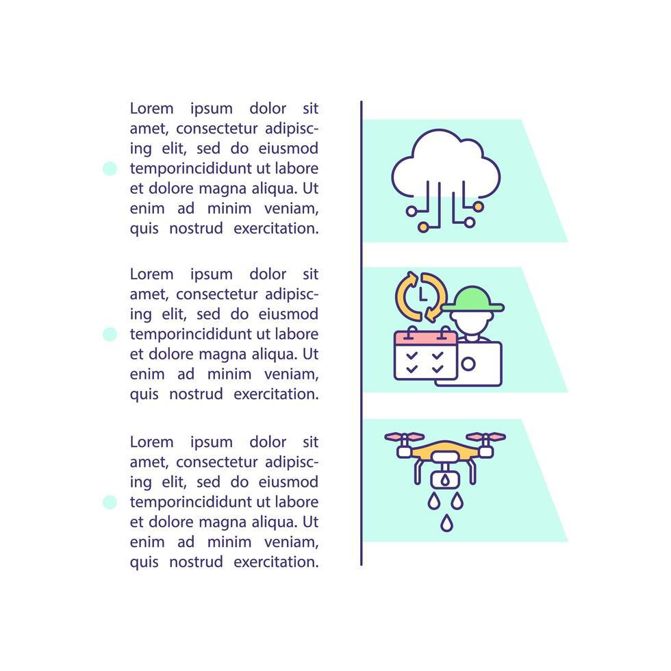 Icône de concept d'innovation agricole avec texte vecteur