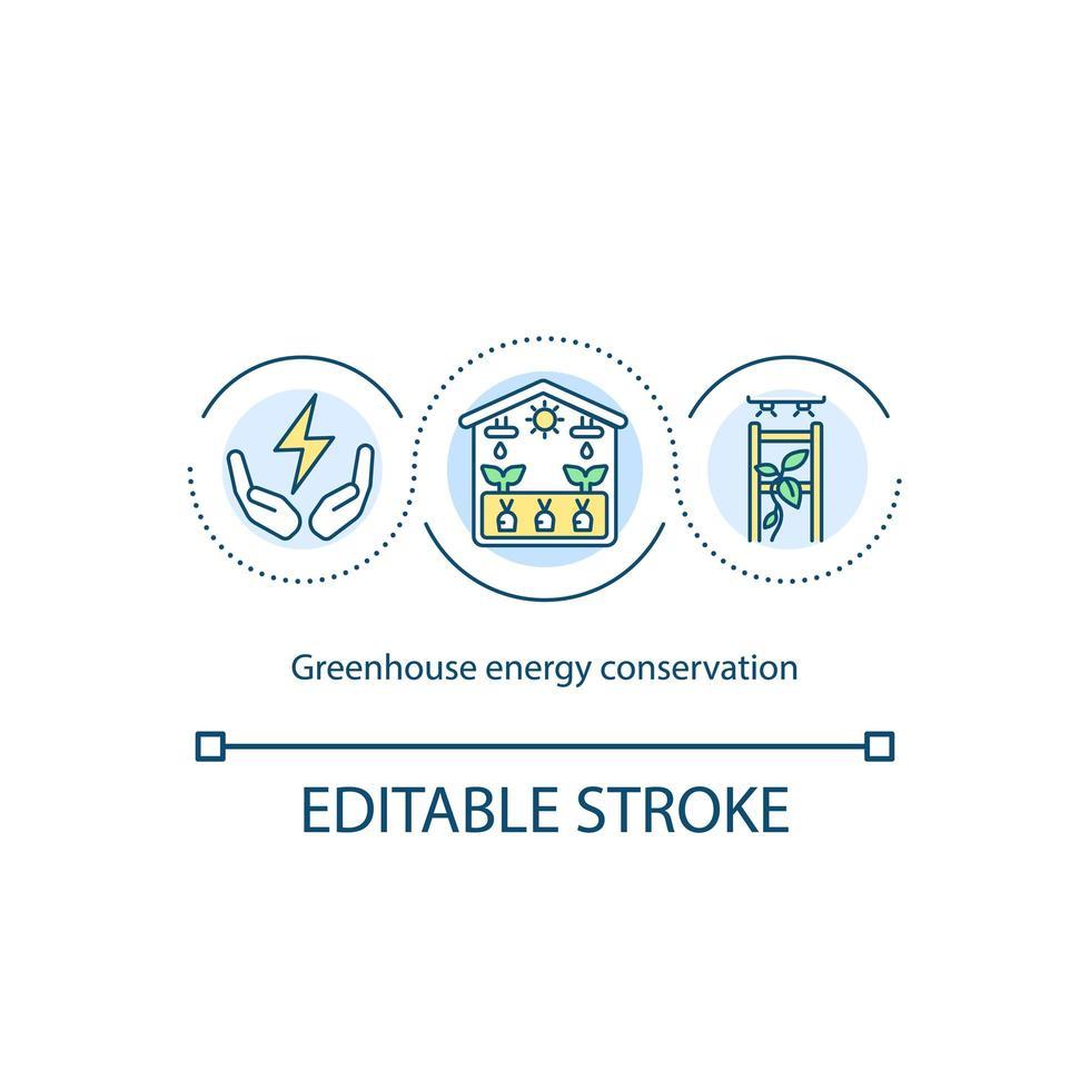 icône de concept de conservation de l & # 39; énergie à effet de serre vecteur