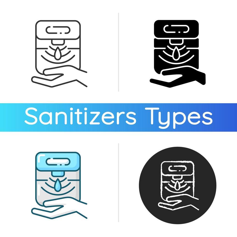 icône de distributeur de désinfectant pour les mains automatique vecteur