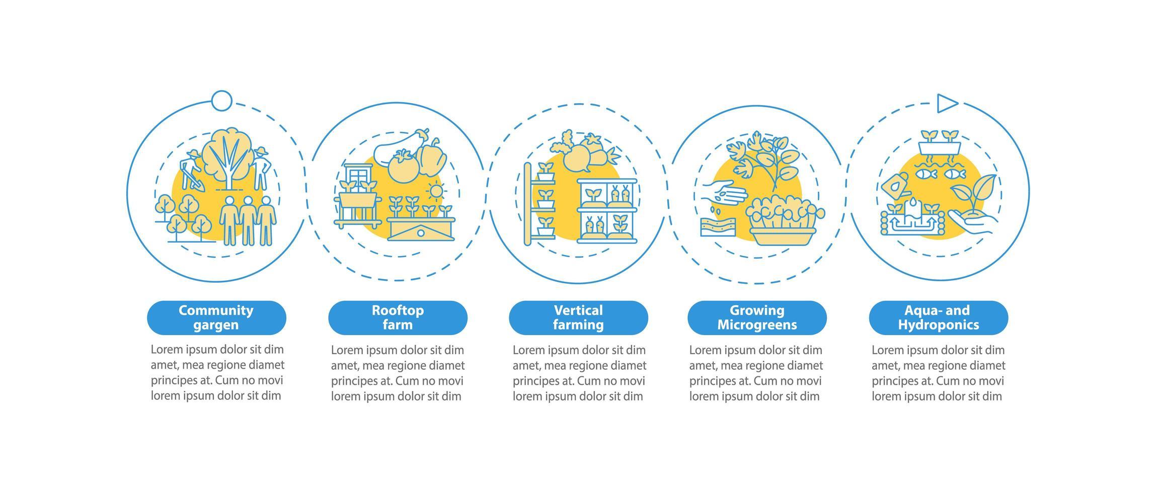 modèle d'infographie de vecteur d'agriculture urbaine