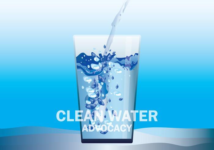 Illustration de plaidoyer pour l'eau propre vecteur