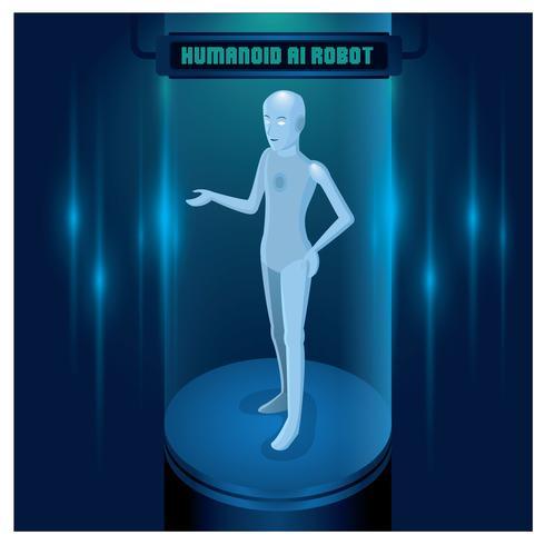 AI Robot Humanoïde Femelle vecteur