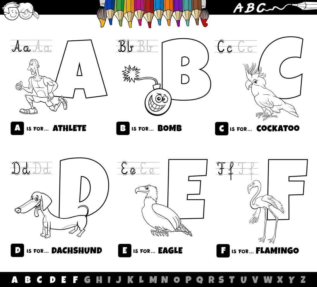 Livre de coloriage de lettres de l'alphabet éducatif pour les ...
