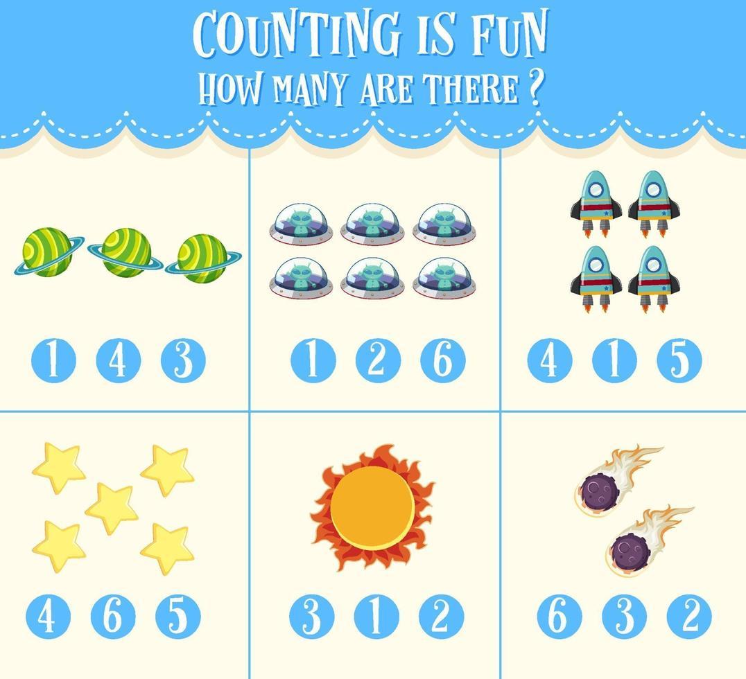 feuille de calcul mathématique pour les enfants vecteur
