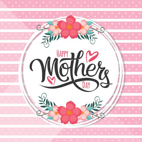 Bonne fête des mères vecteur