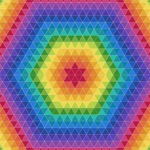 Arrière-plan coloré Triangle géométrique vecteur
