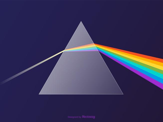 Conception de vecteur de verre Prism Spectrum