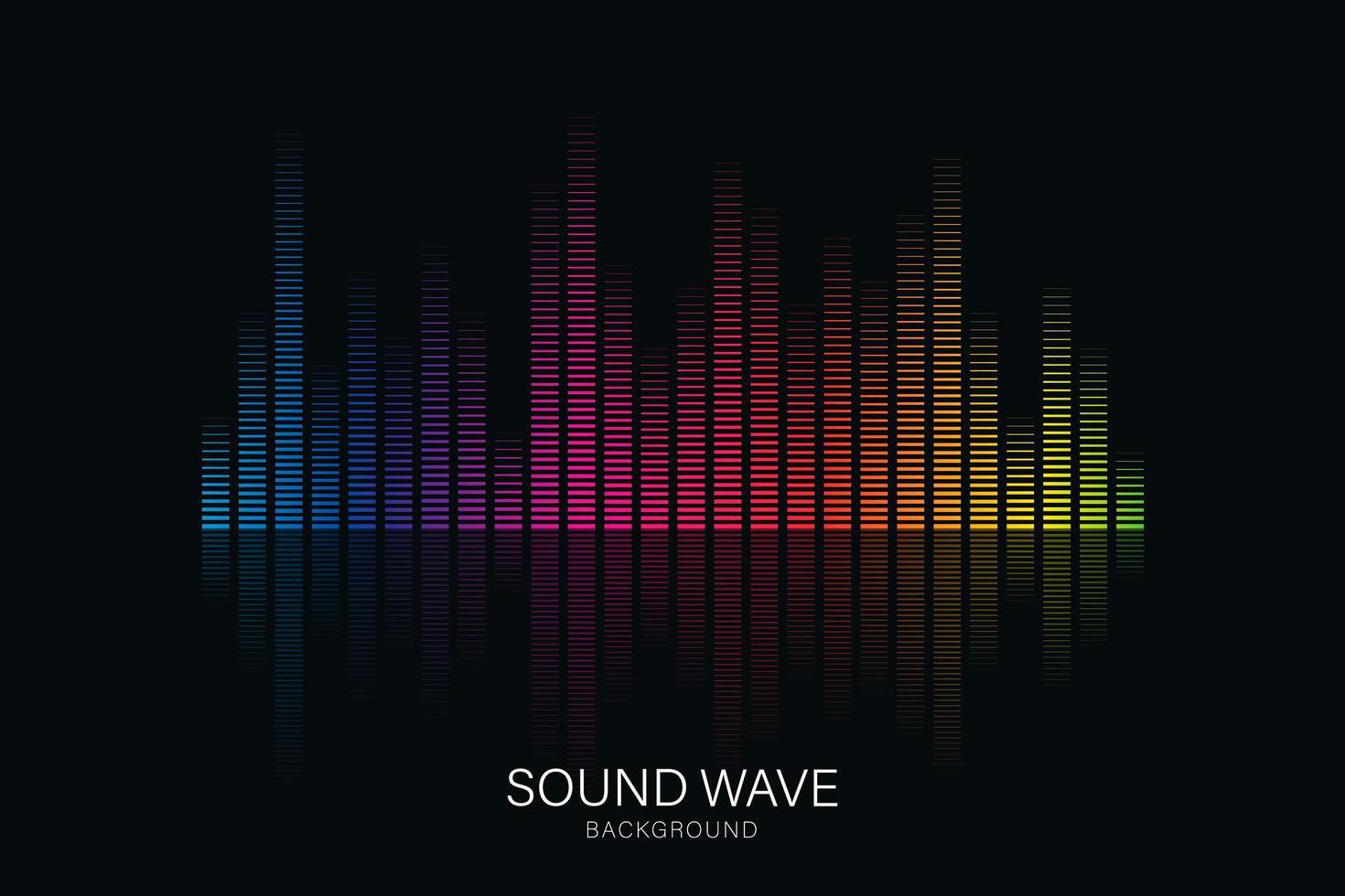 égaliseur d'onde sonore adapté à l'affiche vecteur