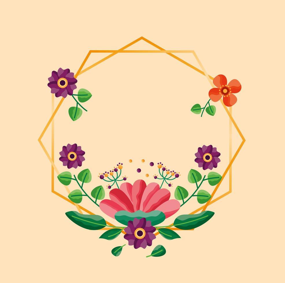 enregistrer la carte de mariage floral date vecteur