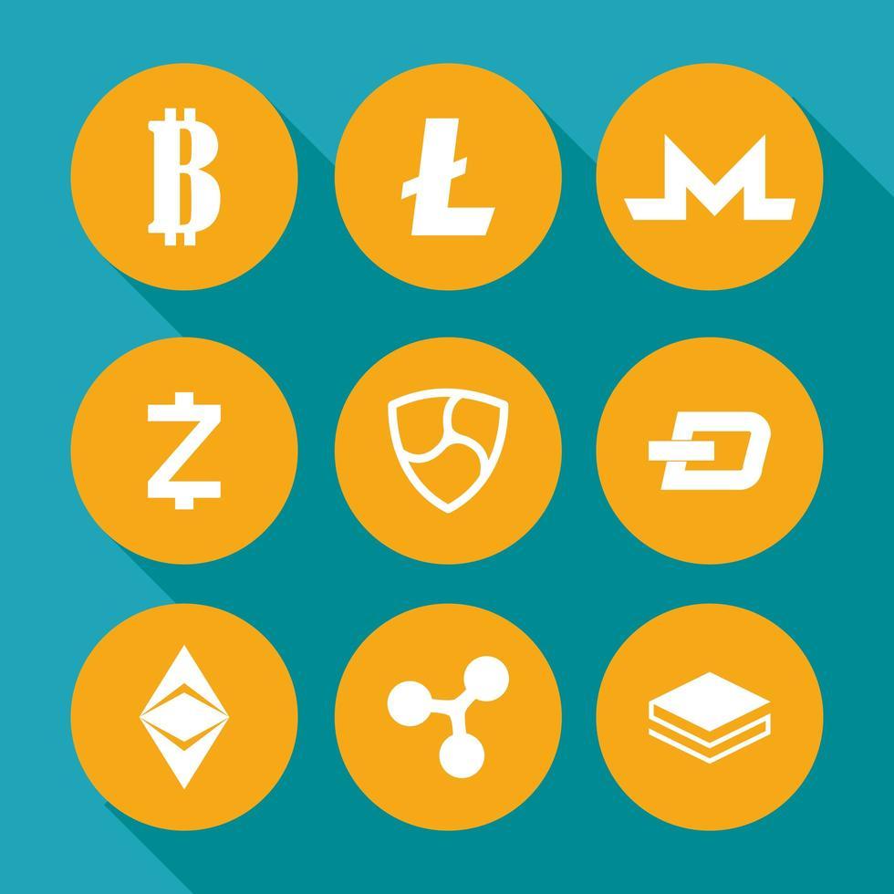jeu d'icônes finance, technologie et entreprise vecteur