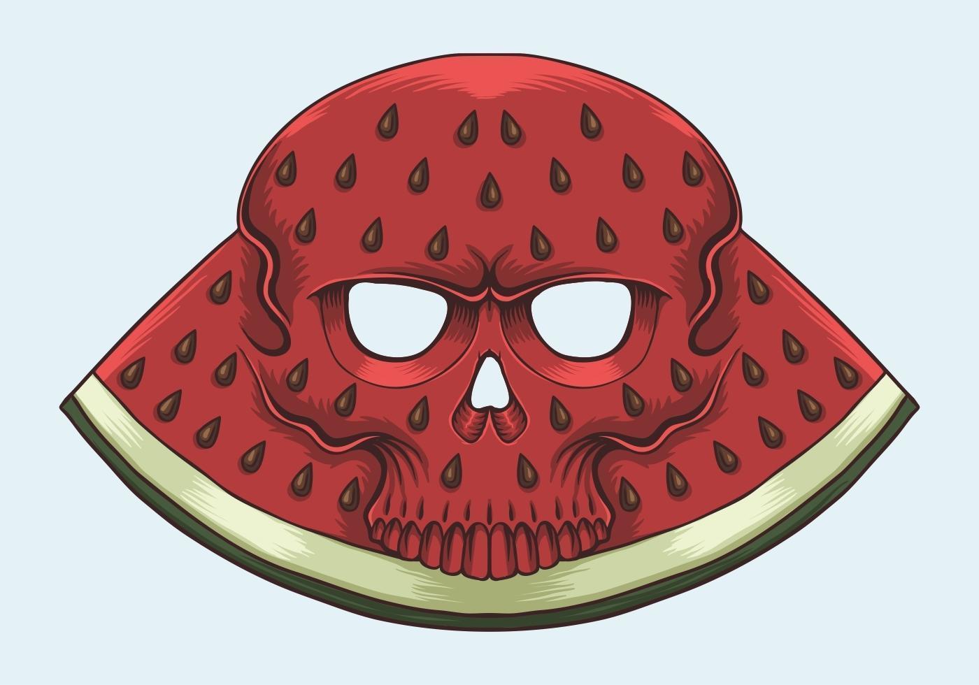 illustration vectorielle de crâne pastèque vecteur