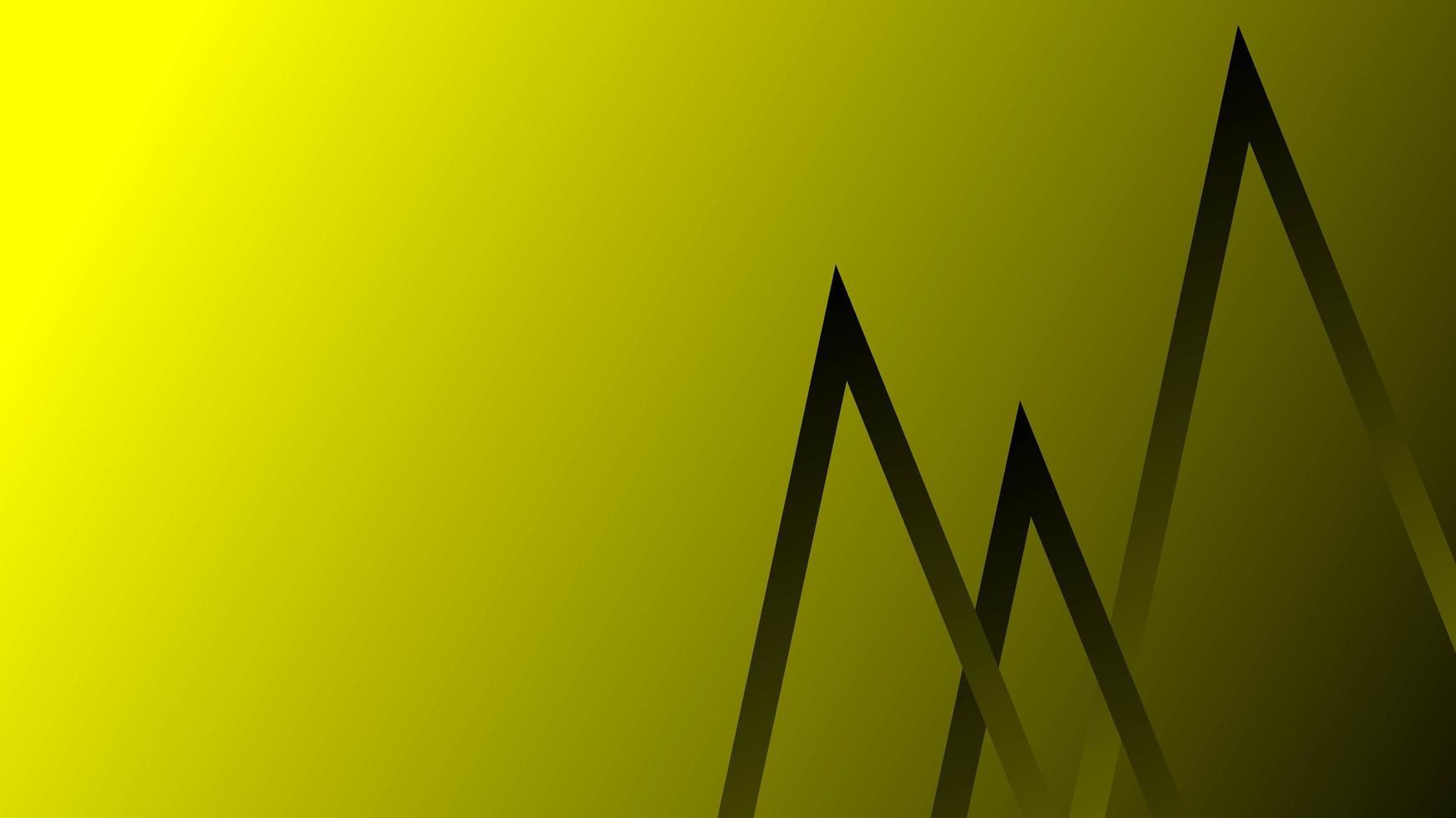 abstrait de lignes de couleur jaune foncé vecteur
