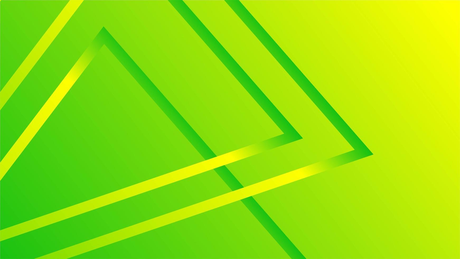 fond géométrique vert jaune néon vecteur