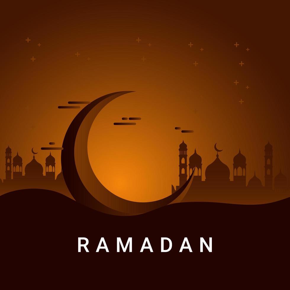 illustration de conception de modèle de vecteur ramadan kareem