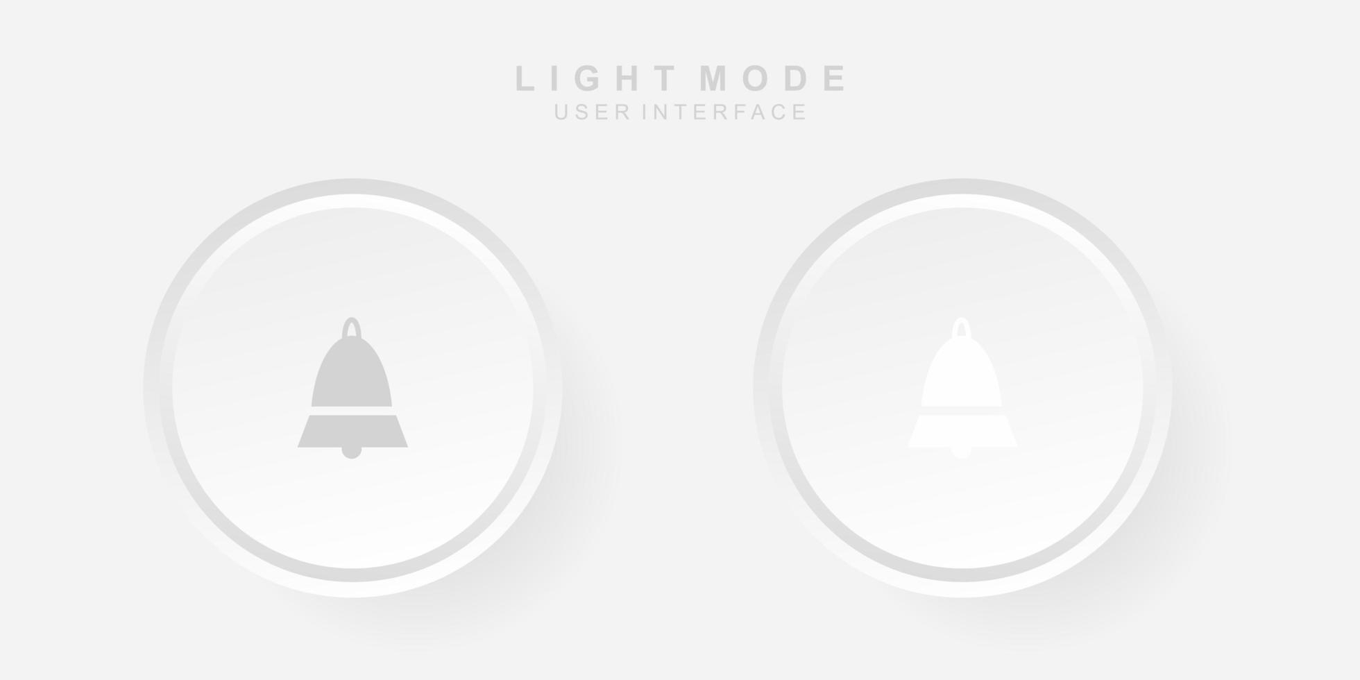 interface utilisateur de notification créative simple dans la conception de neumorphisme. simple moderne et minimaliste. vecteur