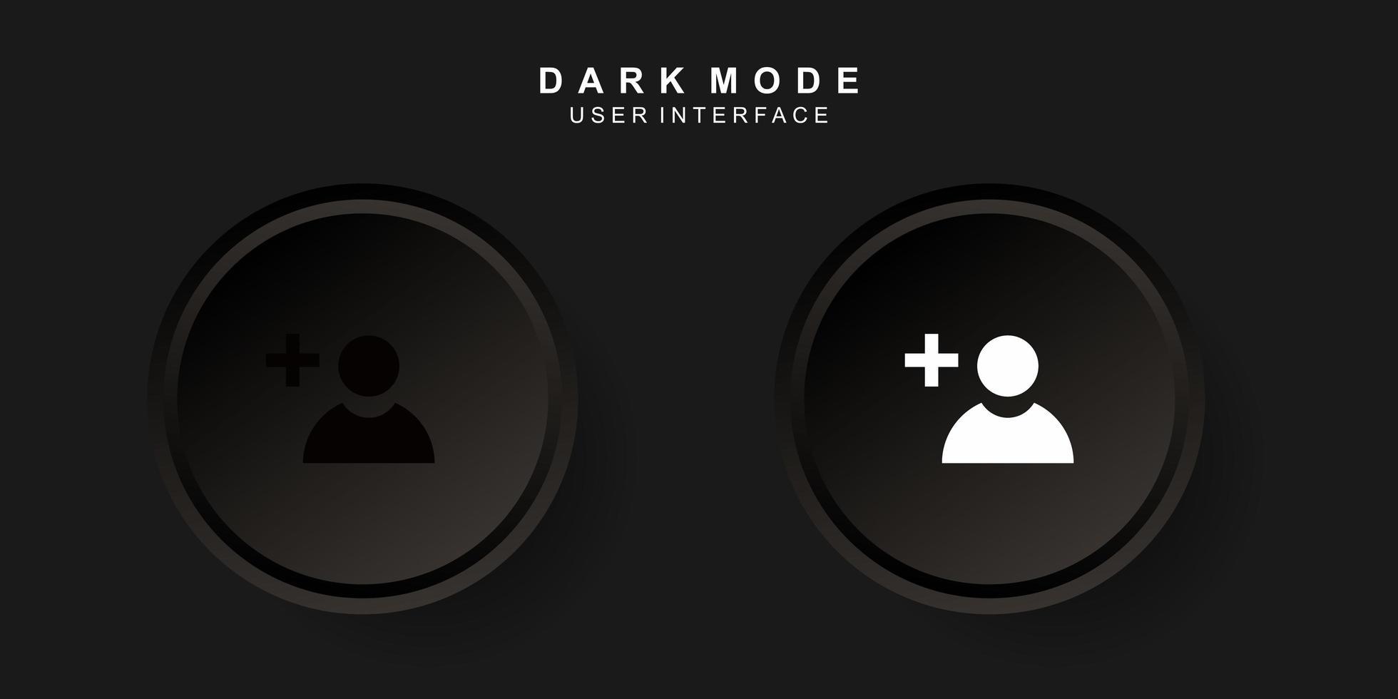 interface utilisateur créative simple ajout de contact dans la conception de neumorphisme. simple, moderne et minimaliste. vecteur