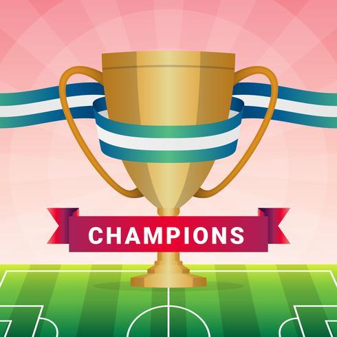 Illustration du trophée de la Ligue des Champions vecteur