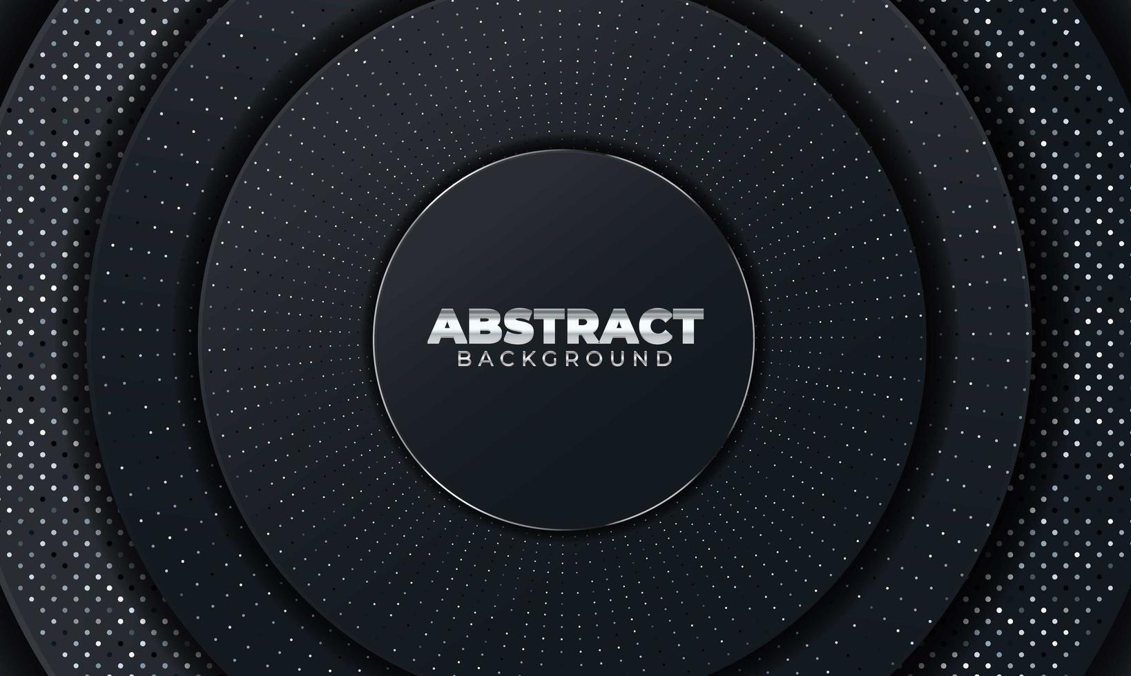 abstrait avec des formes géométriques. fond abstrait noir avec des formes de papier géométriques. illustration vectorielle vecteur