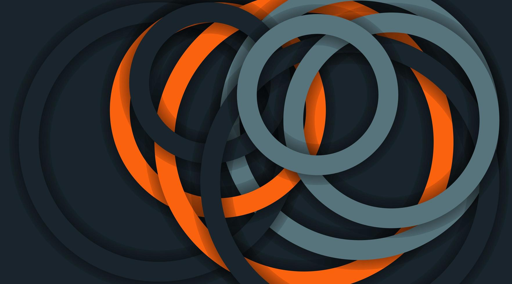fond de vecteur avec des lignes de cercle empilées. illustration de conception