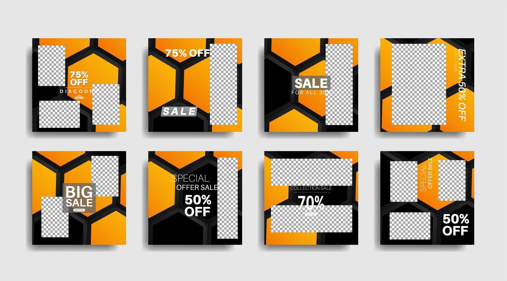 bannière web carrée de promotion moderne pour les médias sociaux vecteur