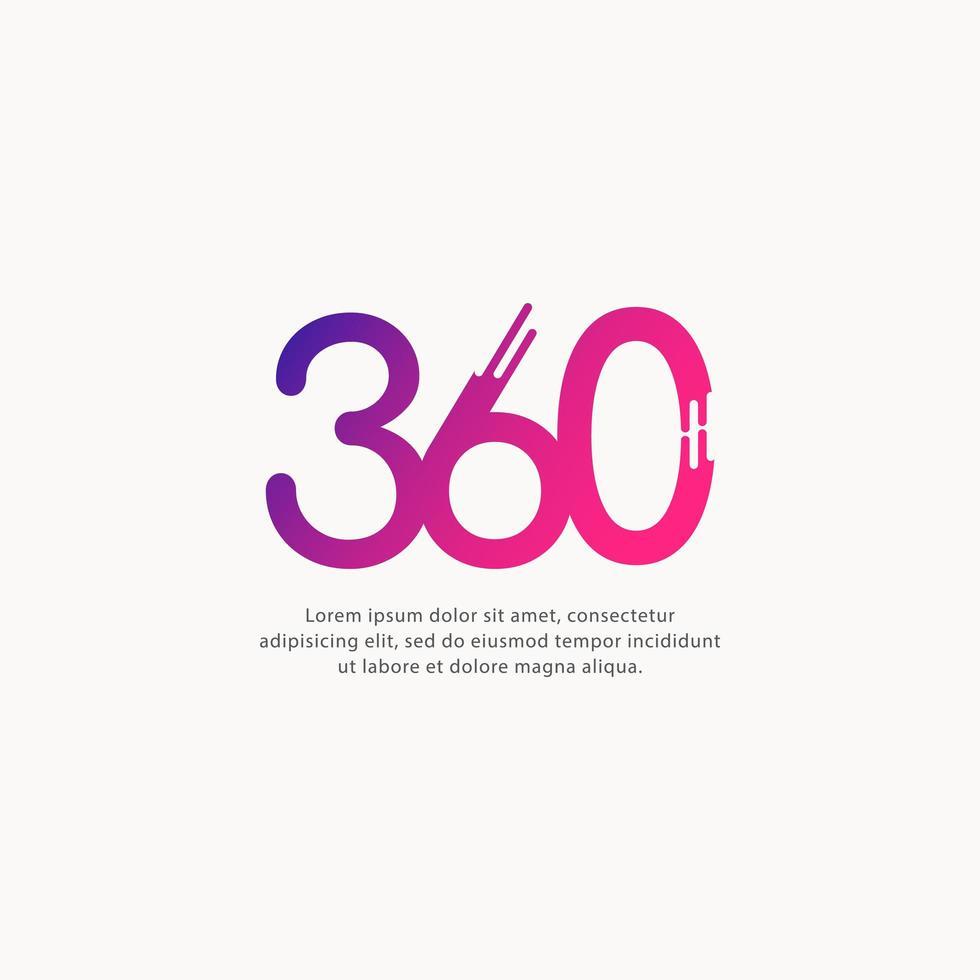 Illustration de conception de modèle de vecteur de texte numéro 360
