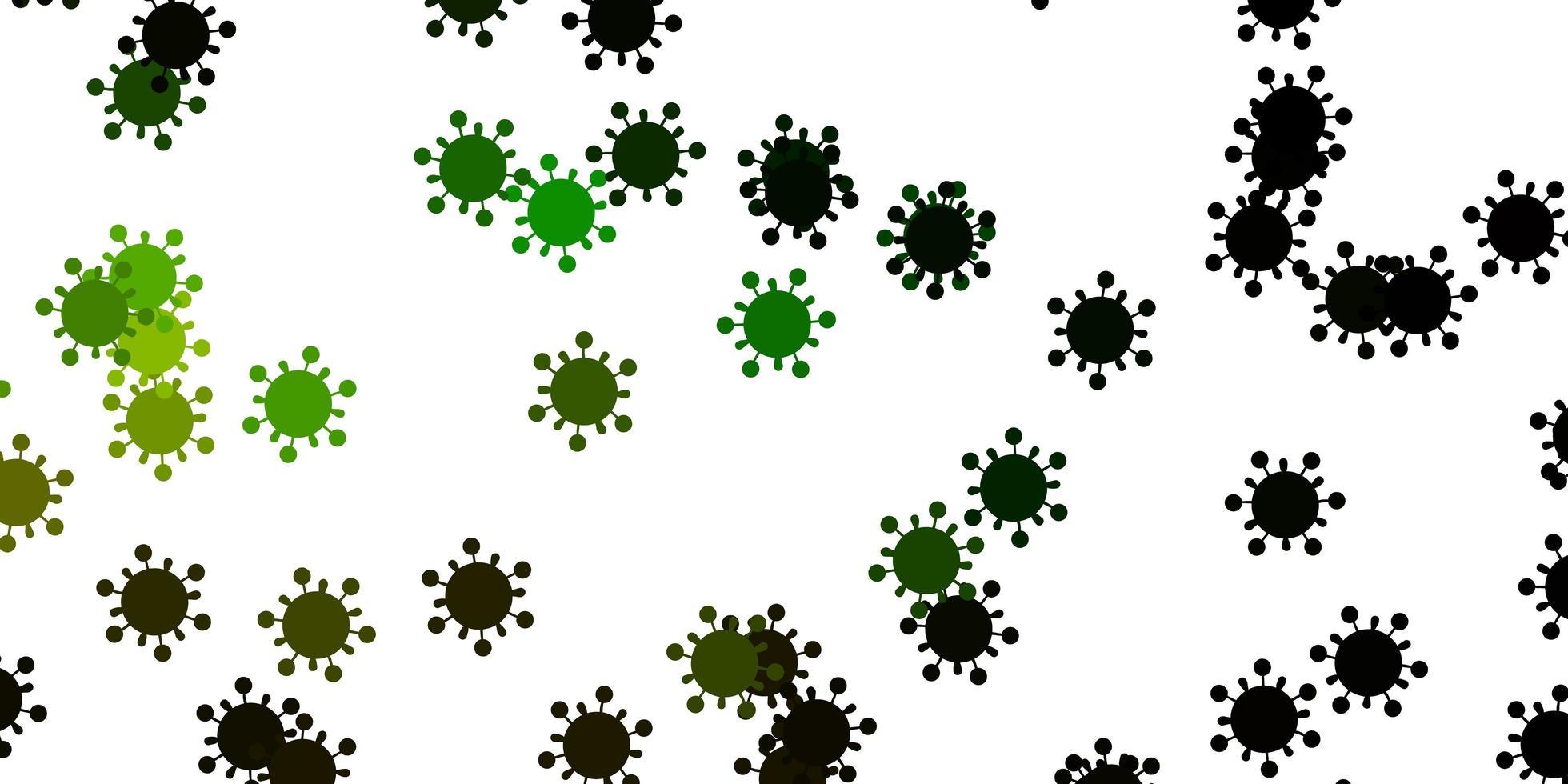 texture vecteur vert clair, jaune avec symboles de la maladie.