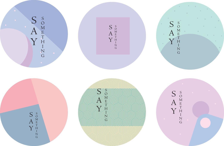 images de fond avec des citations dans des tons pastel vecteur