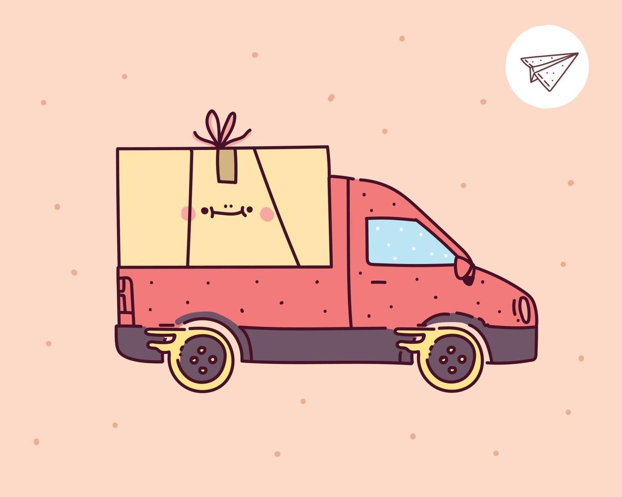 illustration vectorielle de livraison icône, service de livraison en ligne vecteur