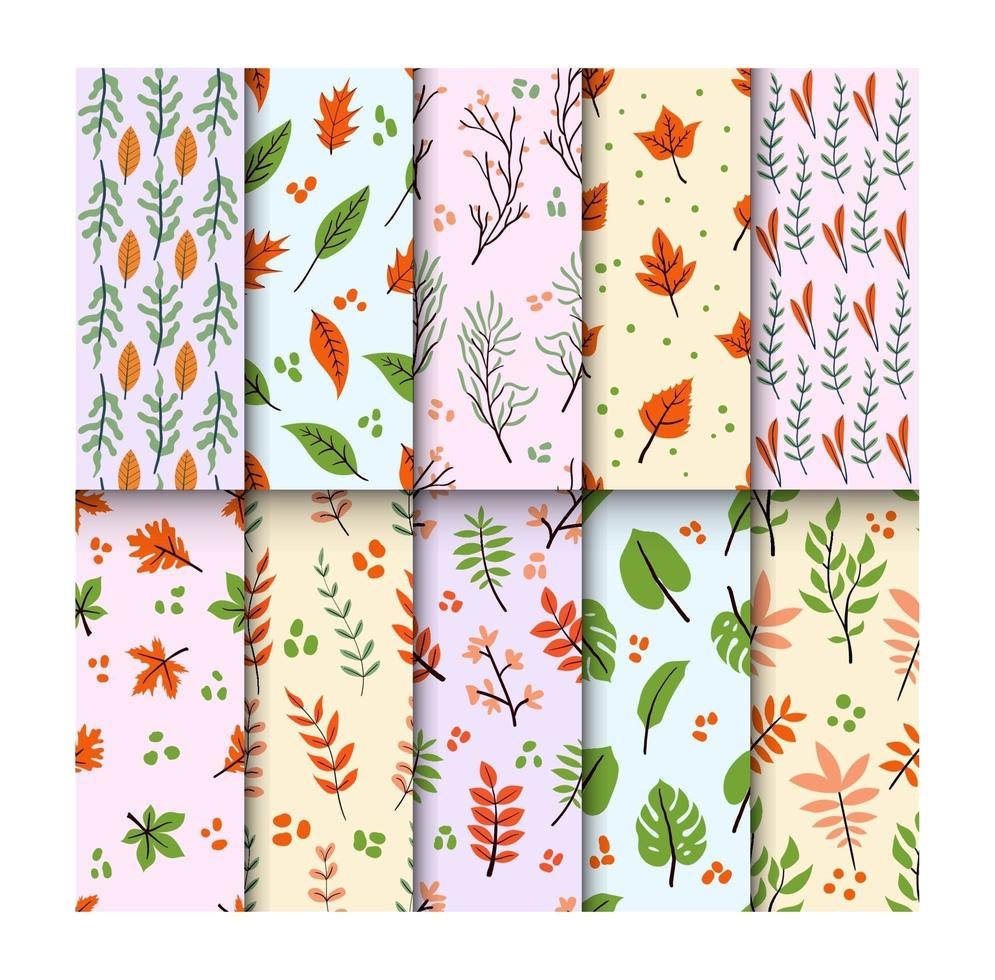 collection de motifs floraux sans soudure vecteur
