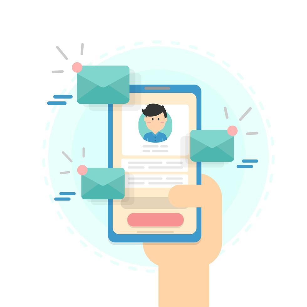 concept d'envoi d'email vecteur