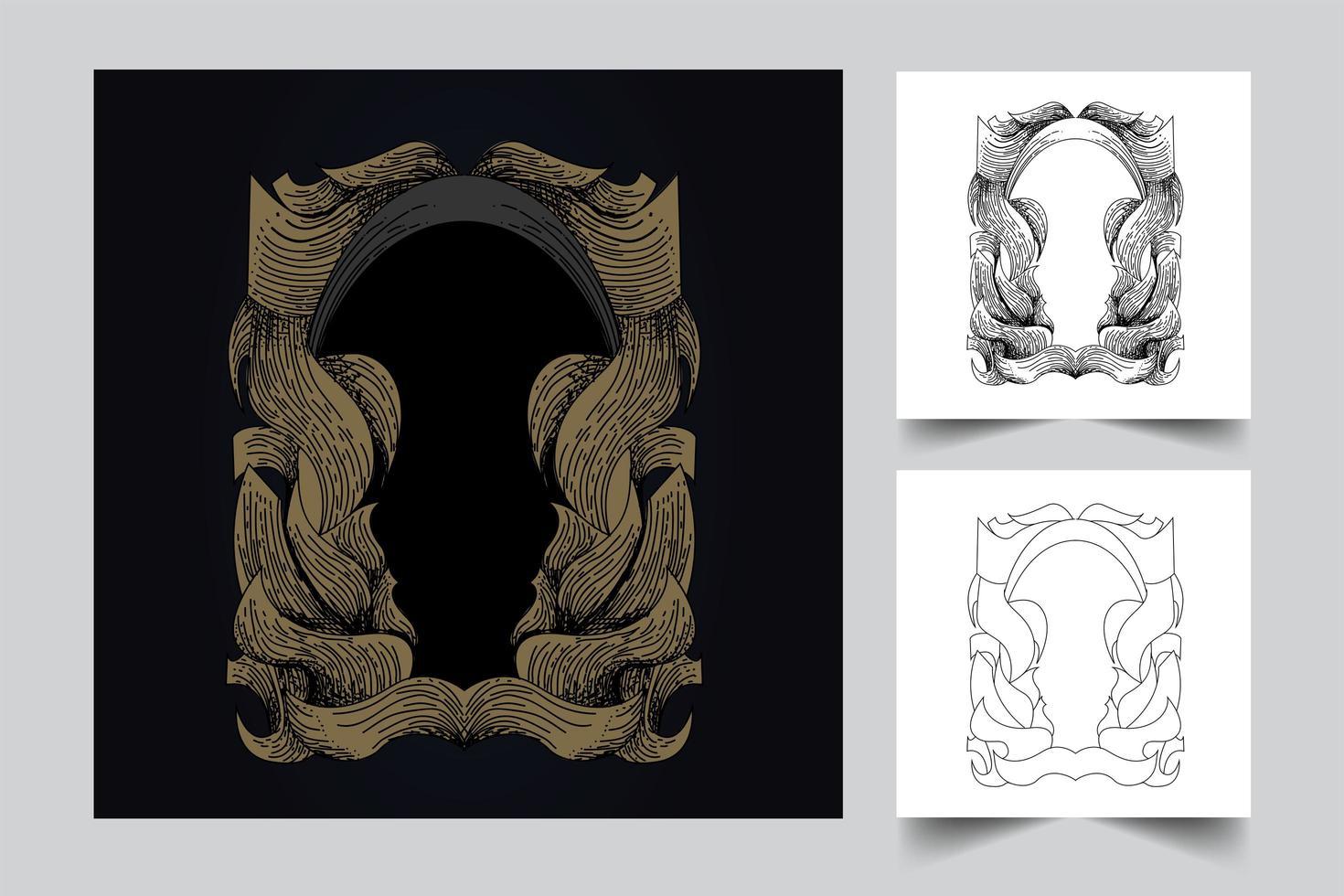 illustration de fond vintage ornement illustration vecteur