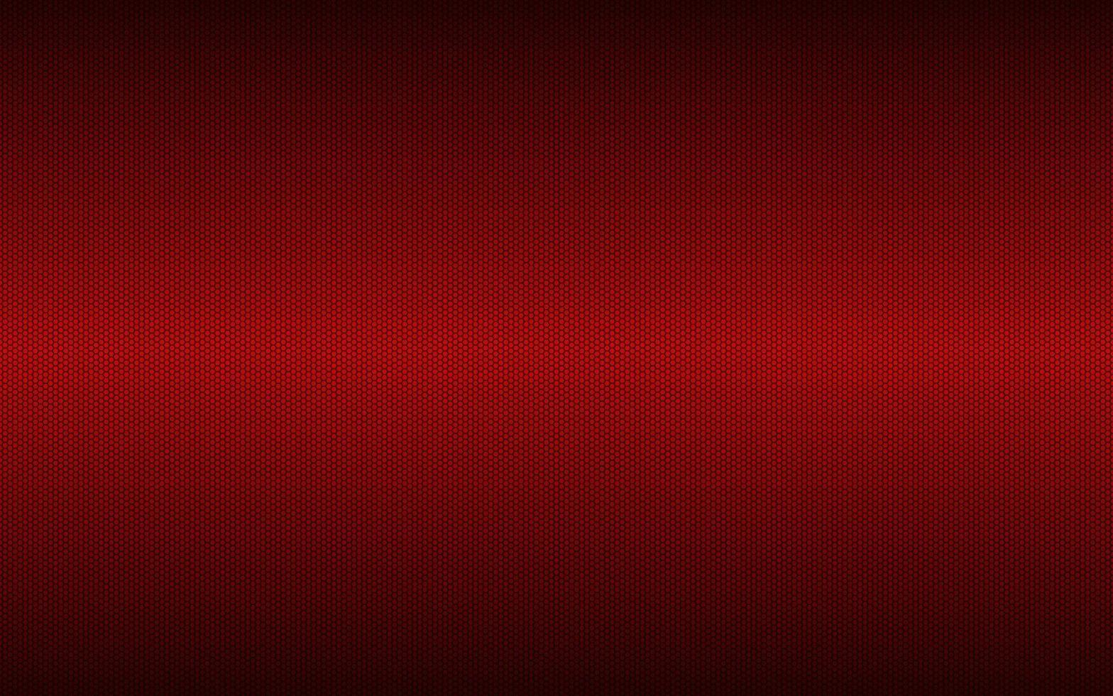 fond géométrique rouge moderne haute résolution avec grille polygonale. motif hexagonal métallique sombre abstrait. illustration vectorielle simple vecteur