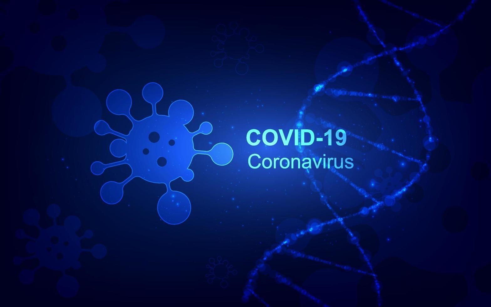 maladie à coronavirus infection covid-19 conception médicale vecteur