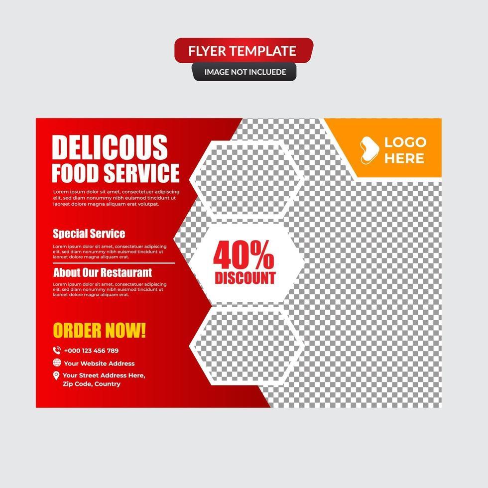 modèle de flyer de meilleure réduction de nourriture vecteur