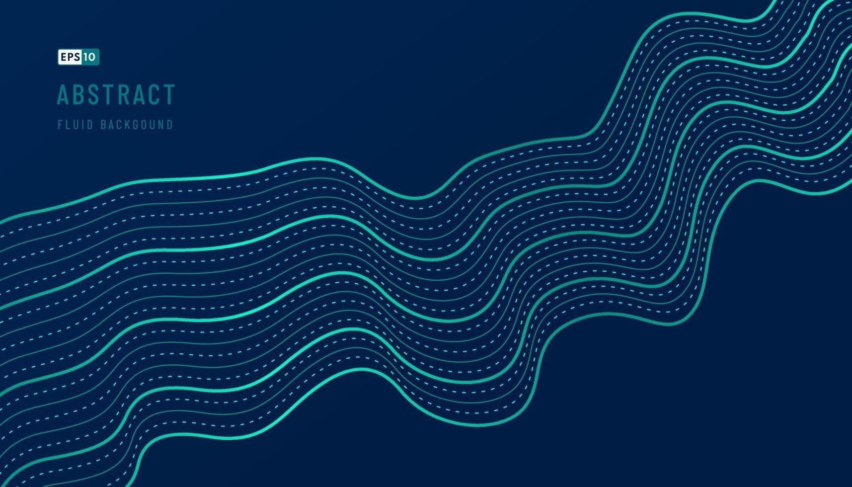 conception abstraite de motif ondulé vert et bleu d'arrière-plan du modèle d'illustration de décoration ondulée avec espace de copie. concept technologique futuriste. mouvement de style dynamique sonore. illustration vectorielle vecteur