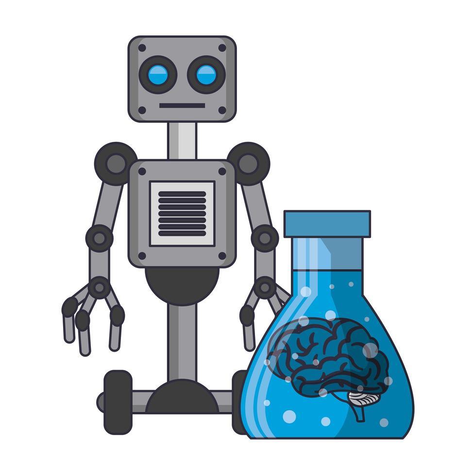 caricature de concept icônes intelligence artificielle vecteur