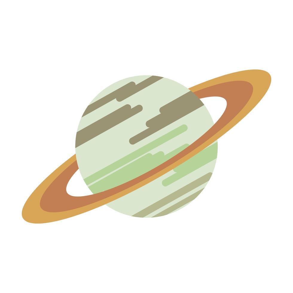 Saturne voie lactée symbole isolé planète vecteur