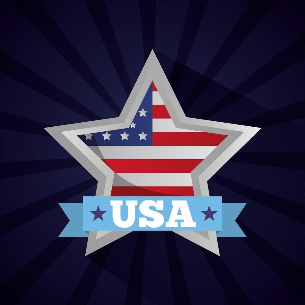 affiche de fête des présidents heureux avec drapeau en étoile vecteur