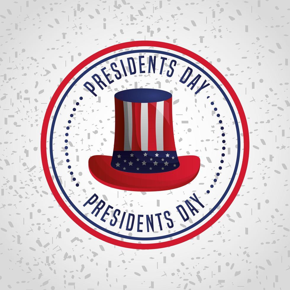 affiche de célébration de la journée des présidents américains vecteur