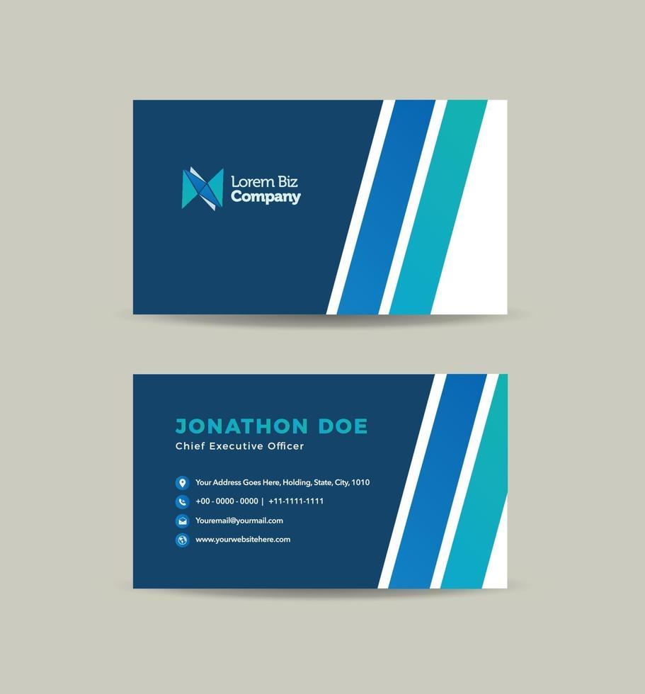 conception de carte de visite d'entreprise ou carte de visite et carte de visite personnelle vecteur