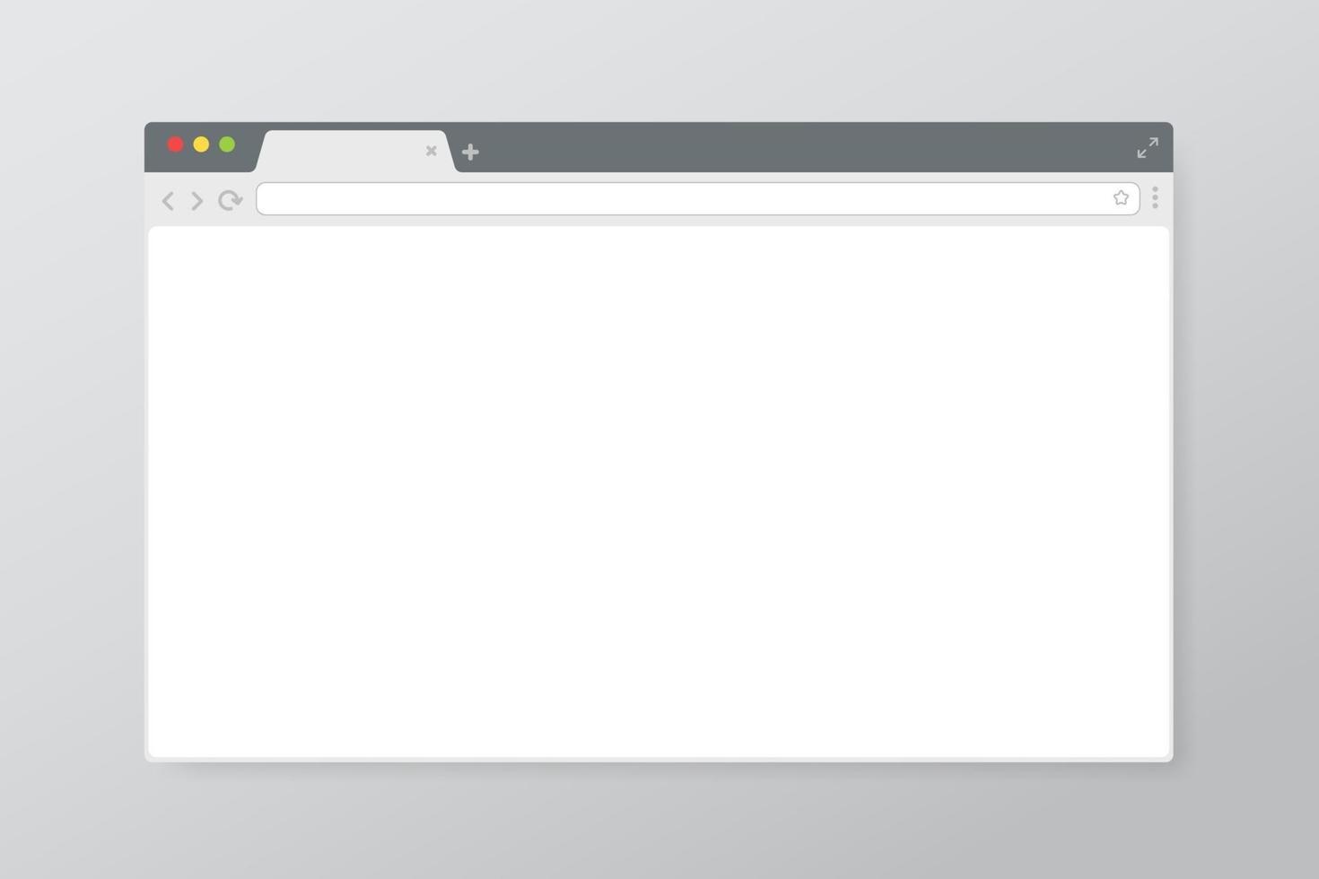 Vecteur d'écran du navigateur Web sur l'écran de l'ordinateur pour rechercher des informations via des sites Web sur Internet