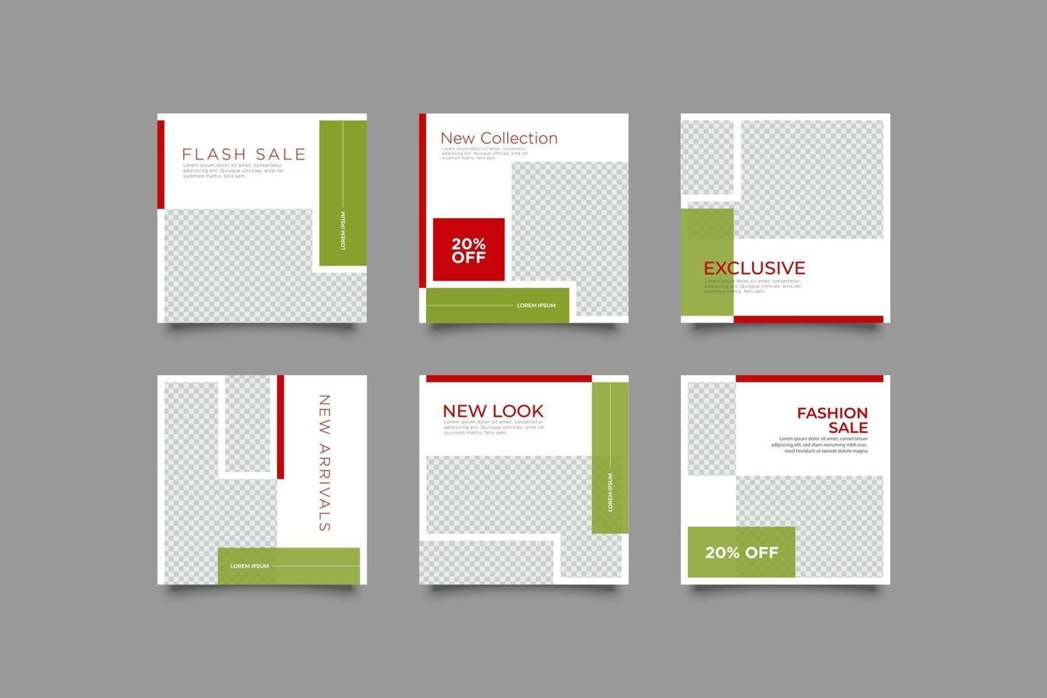 modèle de bundle de publication de campagne de mode vecteur