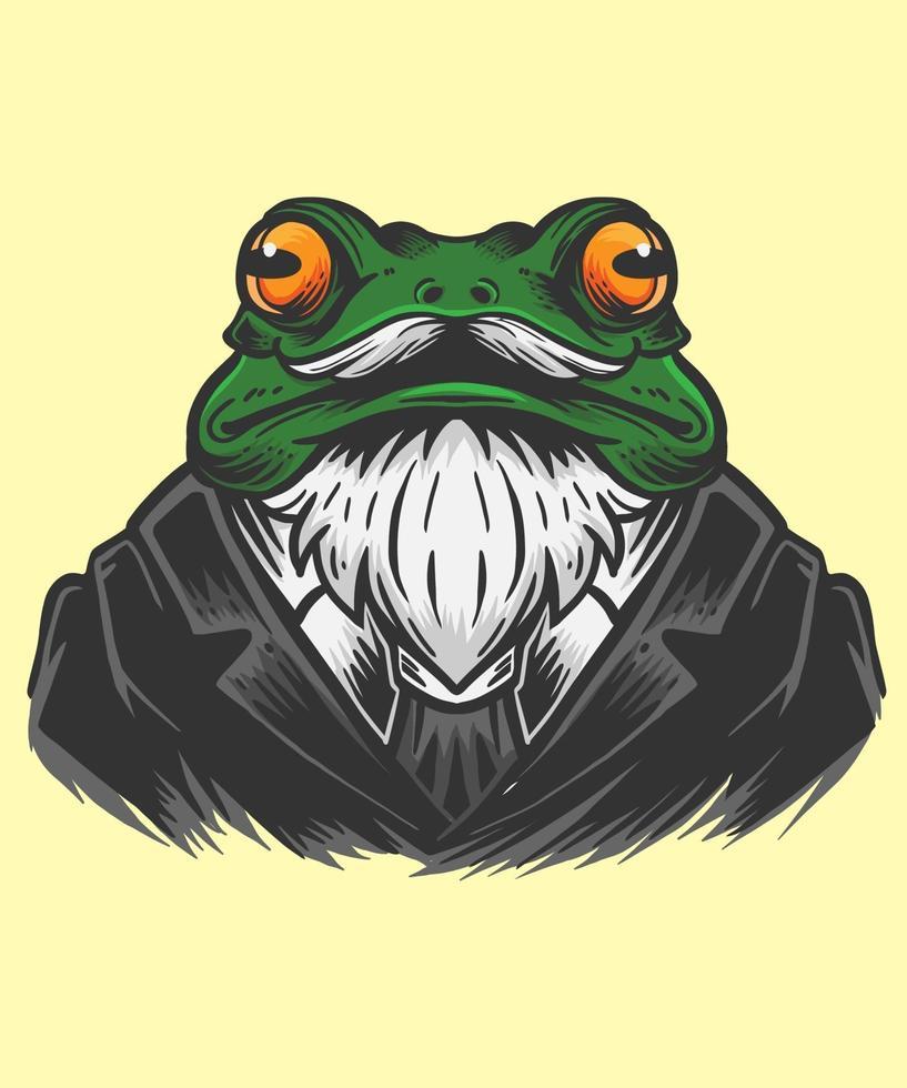 illustration de lhomme de bureau grenouille vecteur
