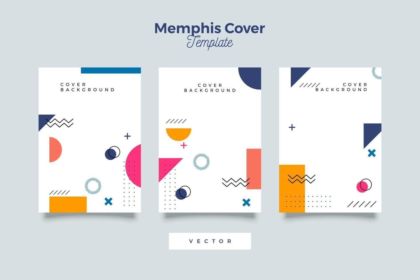 collection de couvertures dans les styles de memphis vecteur