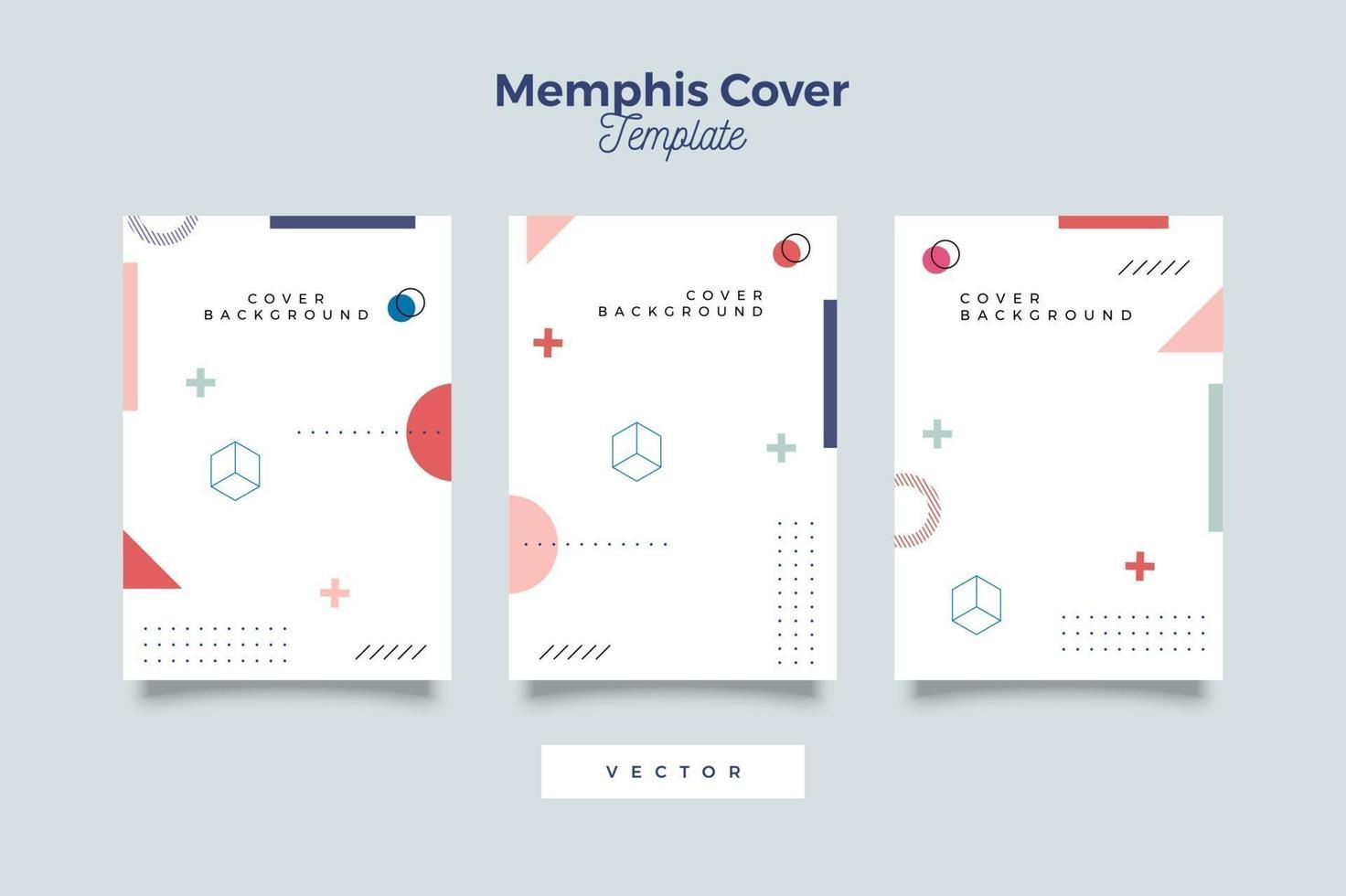 formes géométriques dans une collection de couverture de couleur simple vecteur