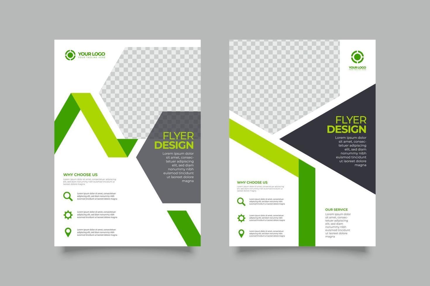 collection de modèles de brochure entreprise flyer vecteur