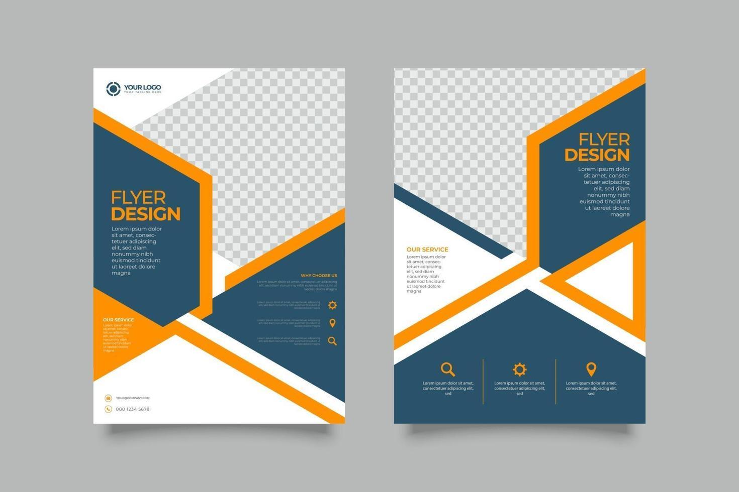 conception de modèle de brochure simple flyer entreprise vecteur