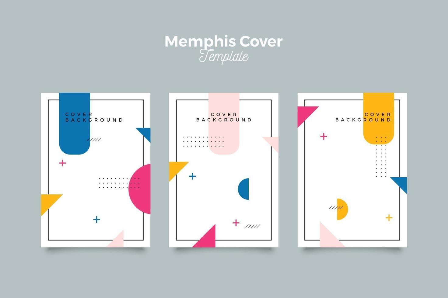 couverture de memphis sertie de formes abstraites vecteur